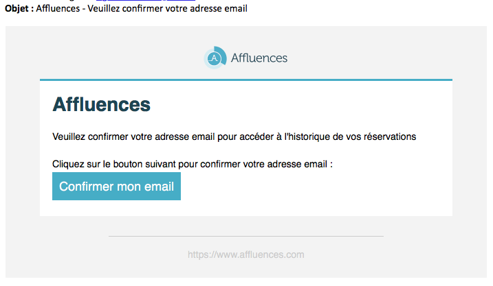 Confirmer mon email