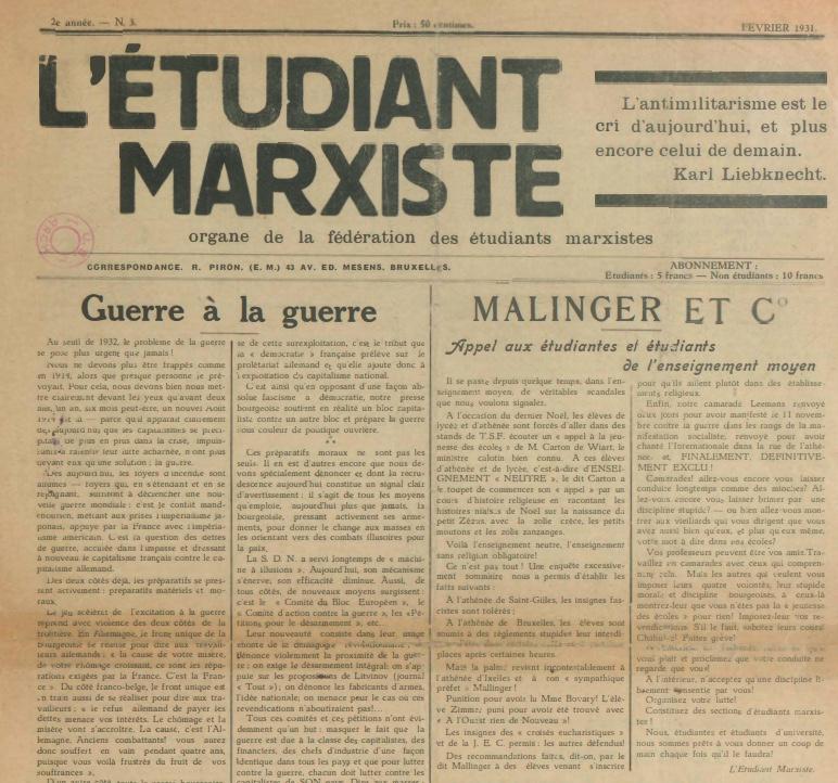 L'étudiant marxiste